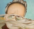 Portret van Laurent Fluttert 2013 olieverf op papier 17 x 23 cm